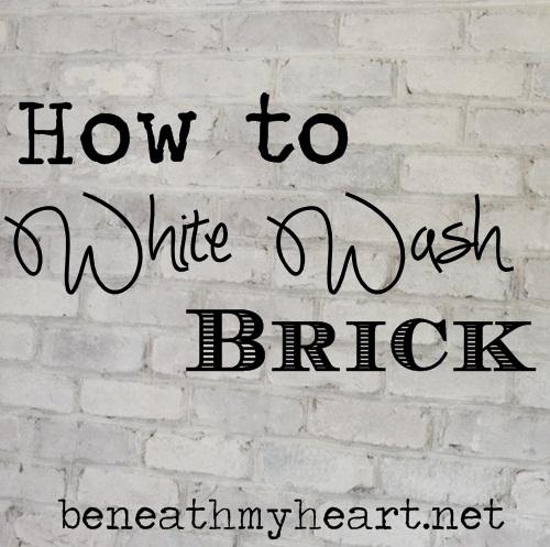 How to White Wash Brick {Bathroom Update}
