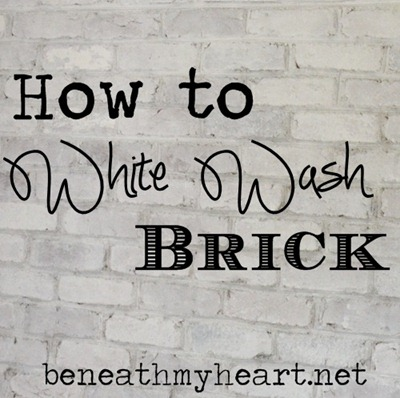 How To White Wash Brick Bathroom Update Beneath My Heart
