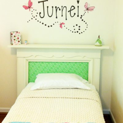 Fireplace Mantle Headboard {for a little girl's room}
