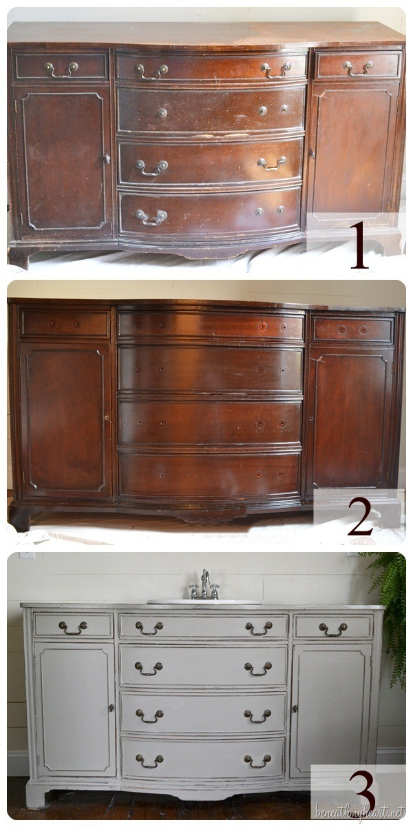 How to turn a dresser into a vanity