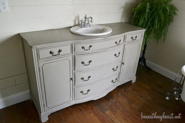 Dresser Turned Vanity Makeover Beneath My Heart
