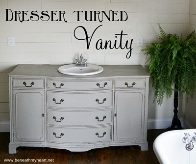 How I Painted My Vanity With Annie Sloan Chalk Paint Beneath My Heart