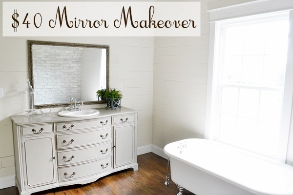 mirror makeover for the master bathroom beneath my heart