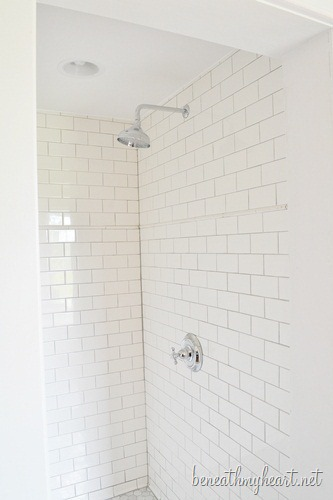 white subway tile shower - White Subway Tile Shower