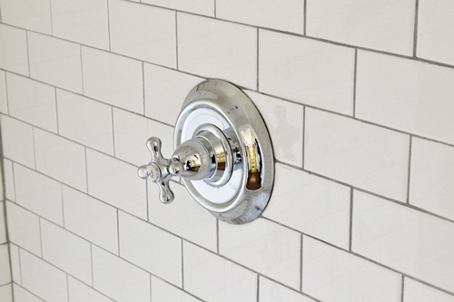White Subway Tile Shower {Our Master Shower is Finished!}