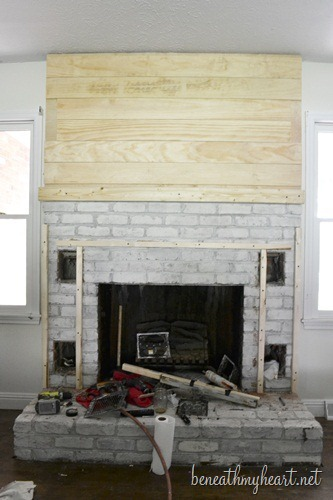 how to create a fireplace surround