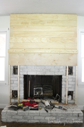 How To Build A Fireplace Surround Beneath My Heart