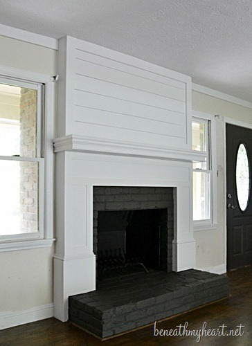 Fireplace makeover reveal beneath my heart - Fireplace mantel designs in simple and sophisticated style ...