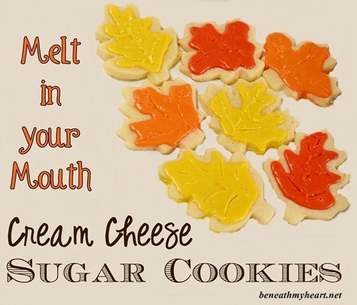 Melt In Your Mouth} Cream Cheese Sugar Cookies - Beneath My Heart