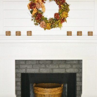Our Simple Fall Mantel