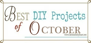 """Best DIY Projects of October"" Linky Party {7 days late}"