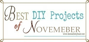 """Best DIY Projects of November"" Linky Party"