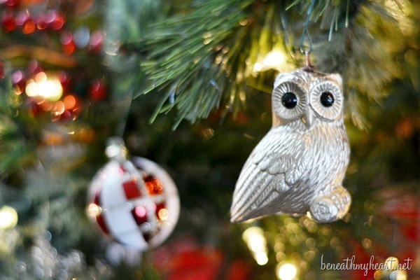 owl themed Christmas