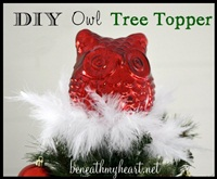 DIY Owl Tree Topper