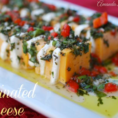 Marinated Cheese {By Amanda Jane Brown}