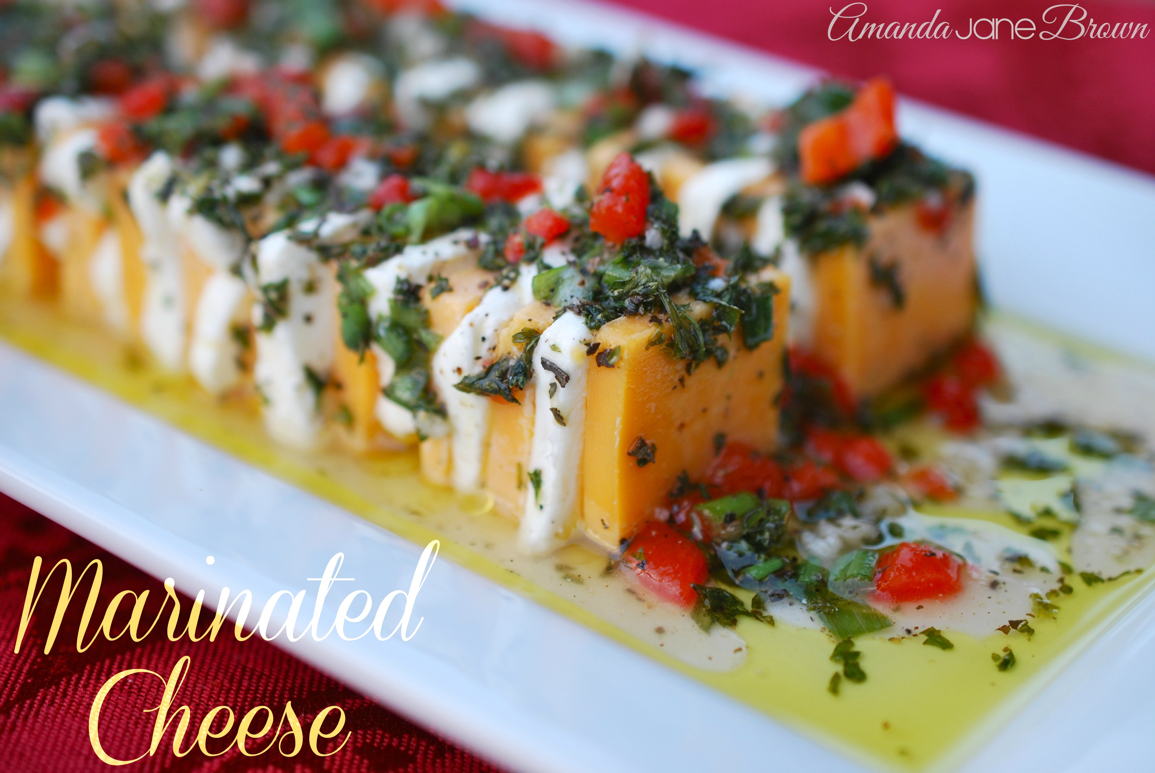 Marinated Cheese {By Amanda Jane Brown}