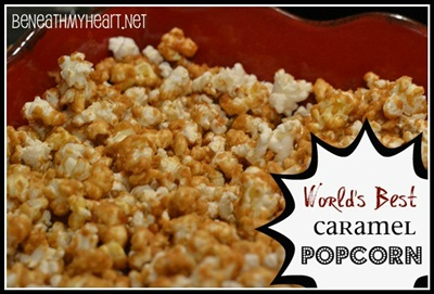 World's Best Caramel Popcorn {The Perfect New Year's Party Food!}