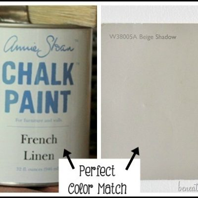 The Perfect Latex Paint Color Match to Annie Sloan's French Linen Chalk Paint!