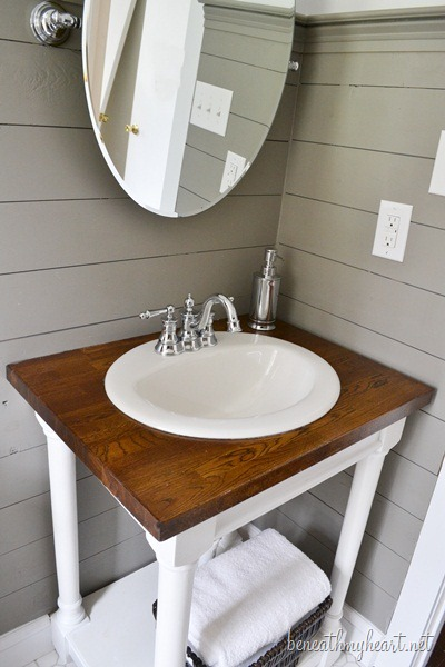Guest Bathroom Makeover Reveal Beneath My Heart
