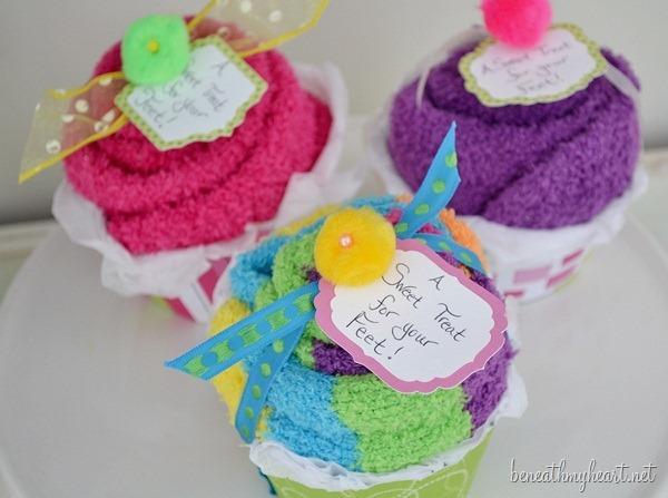 sock cupcake
