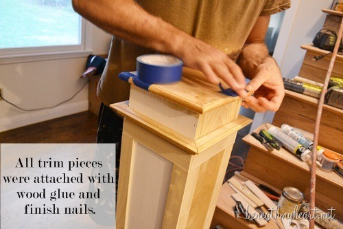 How To Build A Newel Post Beneath My Heart