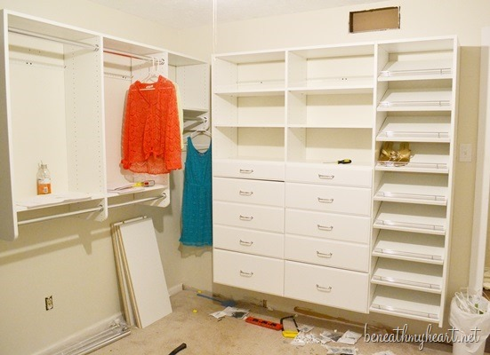 How easy was it to install my easycloset beneath my heart for Easyclosets