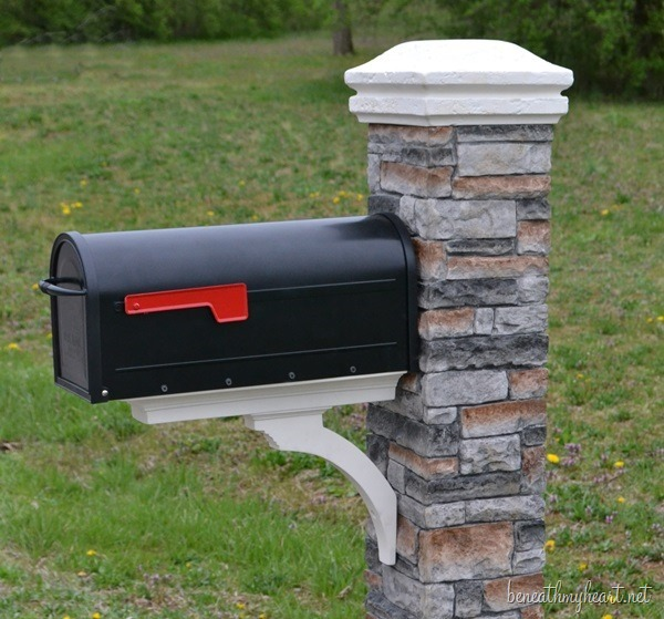 Mailbox makeover {Improving Curb Appeal} - Beneath My Heart