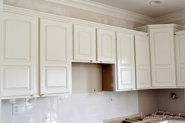 Painting Kitchen Cabinets White By Beneath My Heart HomeRight
