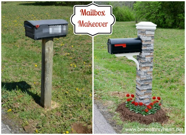 build your own mailbox post mailbox makeover improving curb appeal beneath my 12806