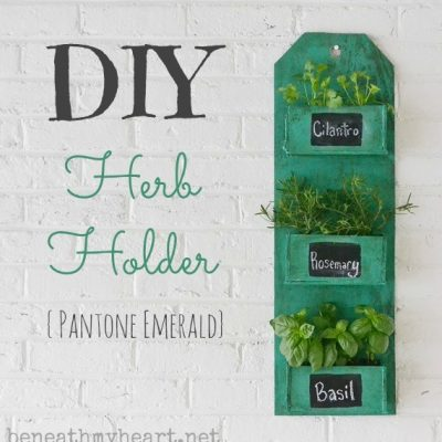 DIY Herb Holder {Pantone Emerald}