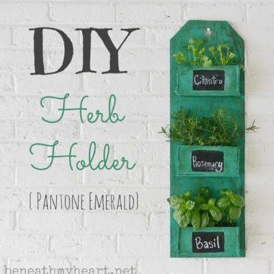 DIY Herb Holder {Pantone Emerald}