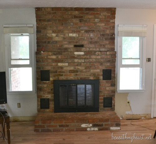 "fireplace makeover ""before"""
