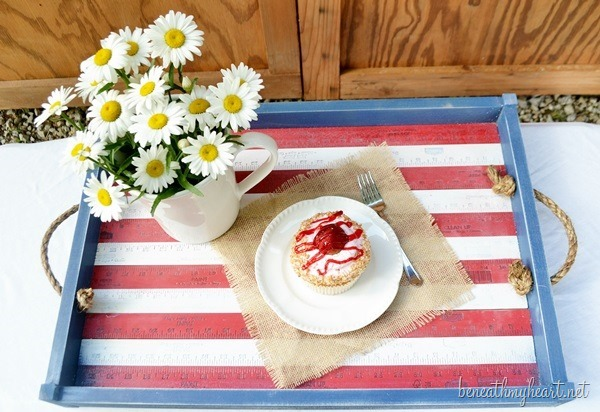 patriotic serving tray