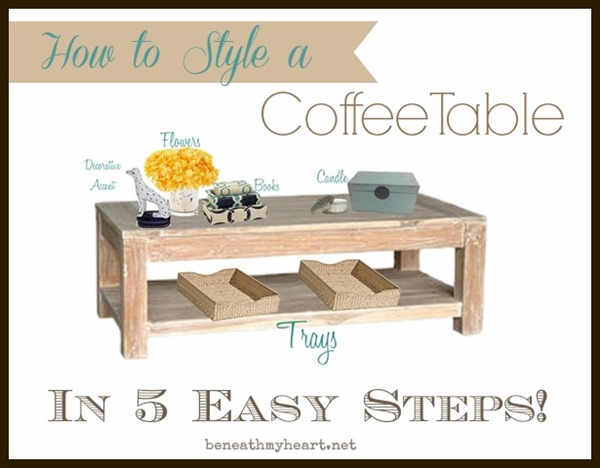 How to style a coffee table in 5 easy steps Beneath My Heart