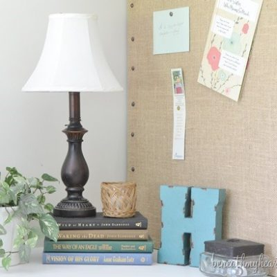 Decorative Burlap Memo Board {for my office}