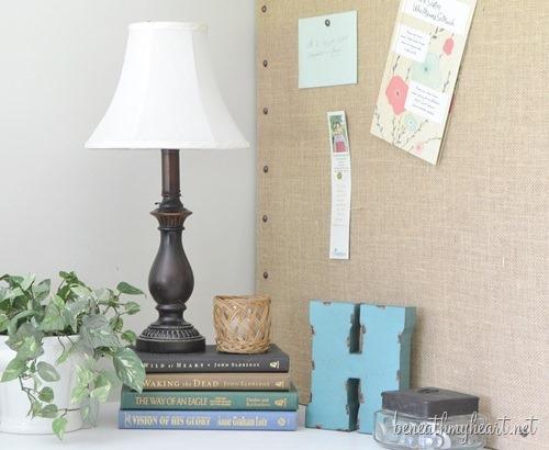 Decorative Burlap Memo Board {for my office}