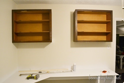 Diy Upper Cabinets For My Officepart 2 Beneath My Heart