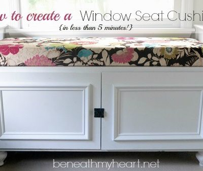 DIY {5 Minute} Window Seat Cushion!