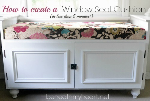 Diy 5 minute window seat cushion beneath my heart