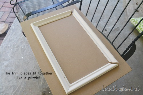 how to make cabinet doors & How to make your own cabinet doors - Beneath My Heart