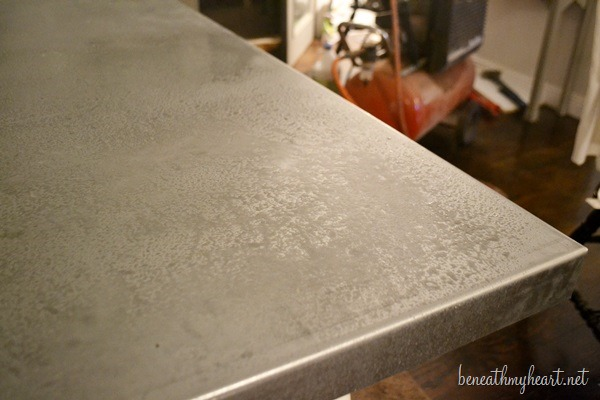 Diy Zinc Top Kitchen Table Beneath My Heart