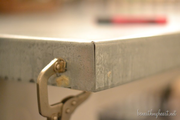 Groovy Diy Zinc Top Kitchen Table Beneath My Heart Interior Design Ideas Oxytryabchikinfo