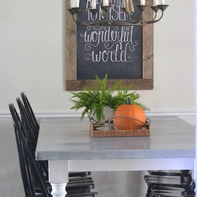 DIY Zinc Top Kitchen Table