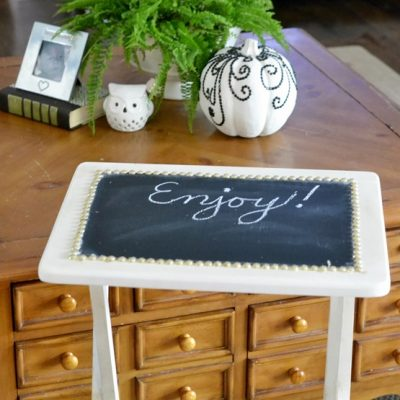 DIY Chalkboard TV Trays