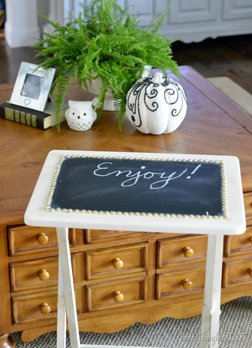 chalkboard tv trays