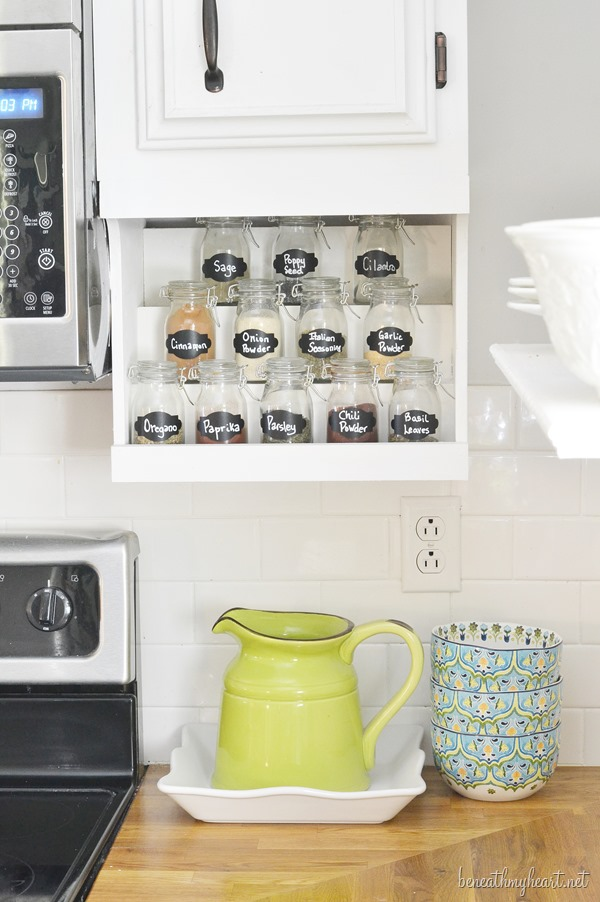 DIY {Undermount} Spice Rack