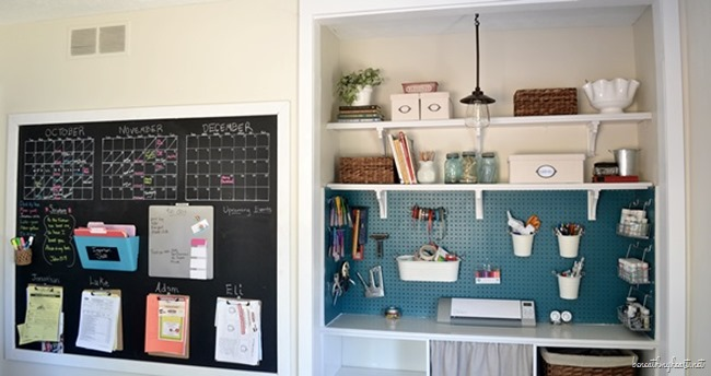 craft closet and command center