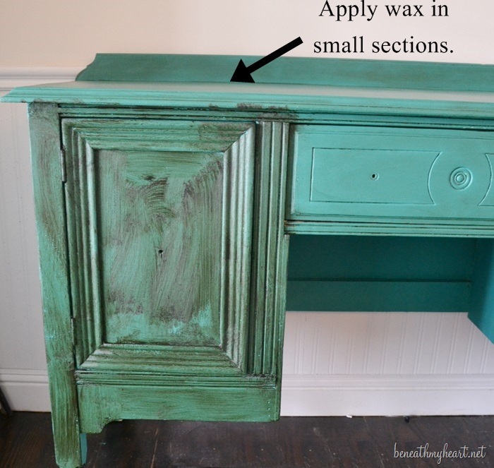 Chalk Paint Kitchen Cabinets Green: Green Buffet Makeover