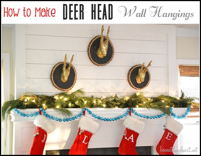 DIY deer head wall hanging