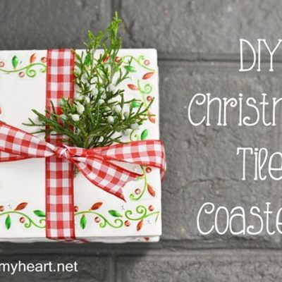 Inexpensive DIY Hostess or Teacher Gift {Tile Coasters}